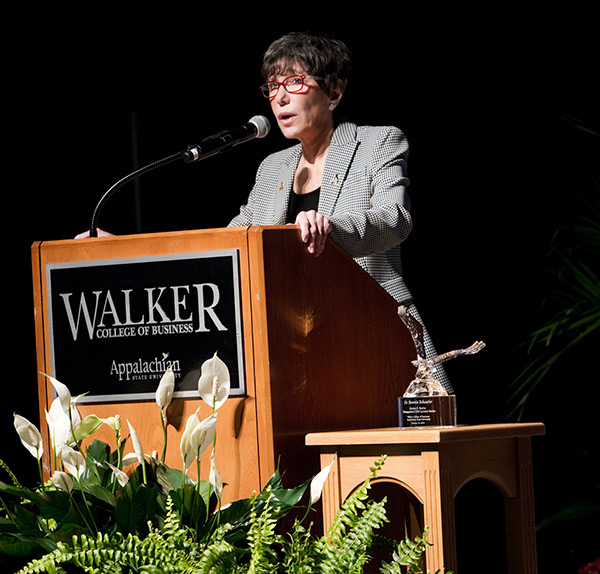 Watch Bonnie Schaefer speak at Appalachian's Harlan E. Boyles lecture series